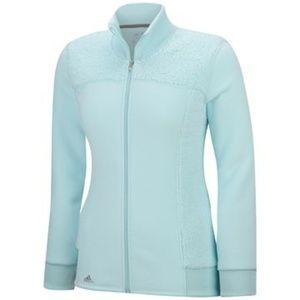 Ice Blue Adidas Ladies Advance Fleece Full Zip